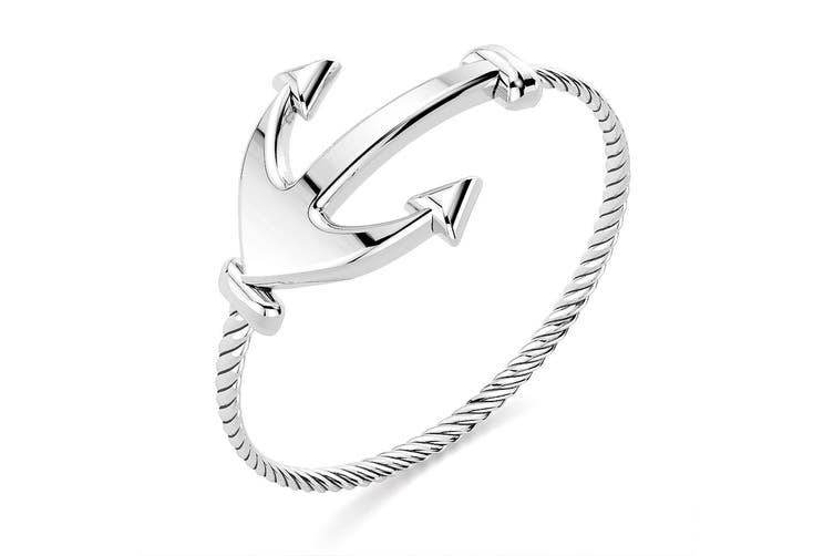 .925 Anchor Fashion Ring-Silver Size US 7