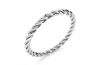 .925 Twisted Rope Band-Silver