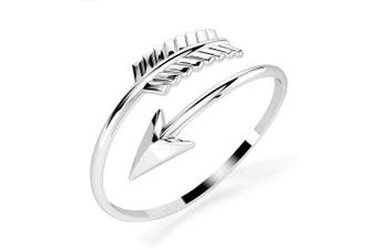 .925 Spin Arrow Fashion Ring-Silver