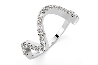 .925 Simulated Diamond Ring-Silver