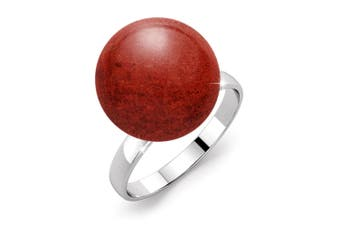 .925 Tint of Coral Red Ring