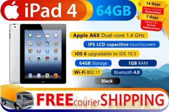 Used as demo Apple iPad 4 64GB Wifi + Cellular Black (Local Warranty, 100% Genuine)