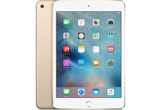 As New Apple iPad Mini 4 128GB Wifi + Cellular Gold (Local Warranty, 100% Genuine)