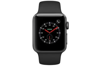 Used as Demo Apple Watch Series 3 38MM CELLULAR Aluminium Black