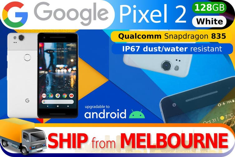 Used as Demo Google Pixel 2 128GB - White (AUSTRALIAN MODEL, AU STOCK)