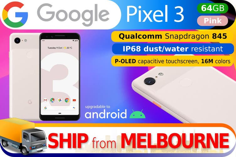 Used as Demo Google Pixel 3 64GB - Pink (AUSTRALIAN MODEL, AU STOCK)