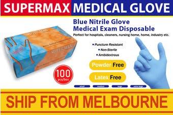 Nitrile Medical Examination Gloves (100 Pcs Large XL Size, Blue)