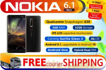Brand New Nokia 6.1 Dual SIM Android One Phone 32GB Black Copper