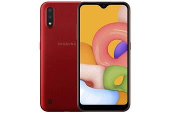 Brand New Samsung Galaxy A01 Dual SIM 4G LTE (2GB RAM, 16GB, Red)
