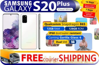 Brand New Samsung Galaxy S20+ Plus Dual SIM 5G (12GB RAM, 128GB, Cosmic White)