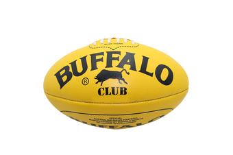 Buffalo Sports Club Leather Football - Yellow Size 4