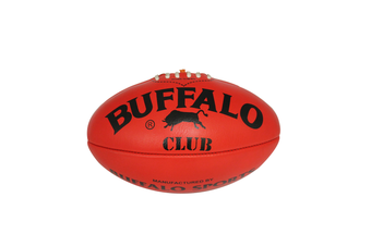 Buffalo Sports Club Leather Football - Red Size 2