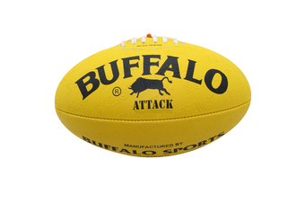 Buffalo Sports All Weather Synthetic Football - Yellow Size 4