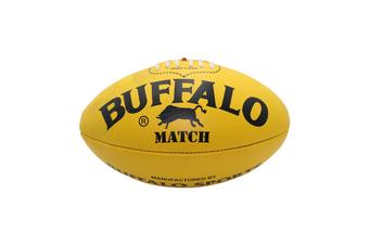 Buffalo Sports Match Leather Football - Yellow Size 4