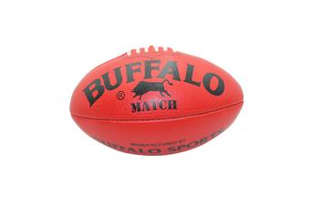 Buffalo Sports Match Leather Football - Red Size 2