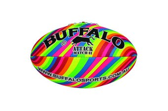 Buffalo Sports Attack Football - Rainbow design Size 3