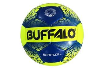Buffalo Brazil Soccerball - Neon Yellow Size 4