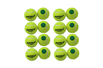 Buffalo Sports Stage 1 Tennis Balls - Green Dot Pack of 12
