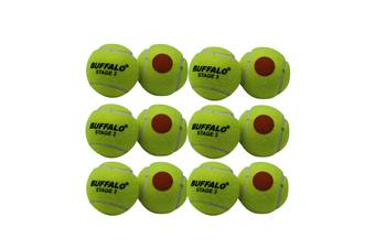Buffalo Sports Stage 2 Tennis Balls - Orange Dot Pack of 12