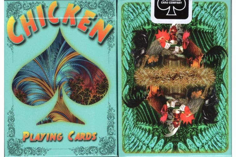 Chicken Playing Cards deck by artist Susan Krupp