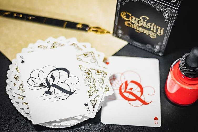 Cardistry Calligraphy Playing Cards Gold Foil Limited Edition