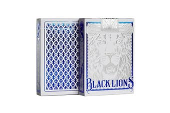 David Blaine Black Lions Playing Cards Official Blue Edition Magic Deck