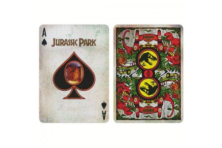 Jurassic Park Playing Cards Official deck by Ellusionist Textured Tuck