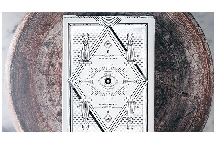 Luxor Playing Cards White 1st Edition Royal 52 Deck by Gemini