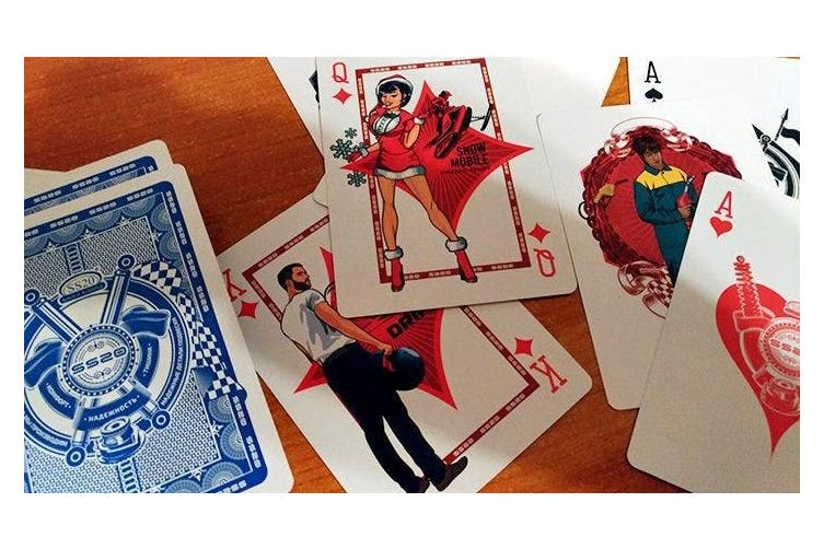SS20 Pin-up Playing Cards Racing Car Collectors Deck from Russia
