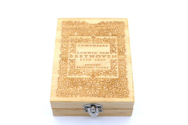 Composers Playing Cards Wooden Collectors Box (Empty) L.V. Beethoven Edition