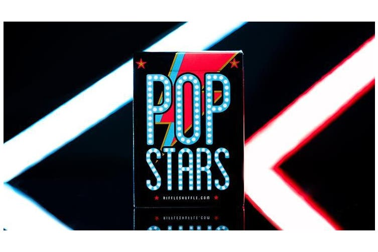 Pop Stars Playing Cards by Riffle Shuffle Bee Crushed Stock