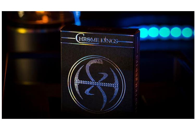 Chrome Kings Carbon Playing Cards Holographic Foiled Edition by De'vo