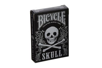Bicycle Skull Playing Cards Metallic Silver Edition by Gambler's Warehouse