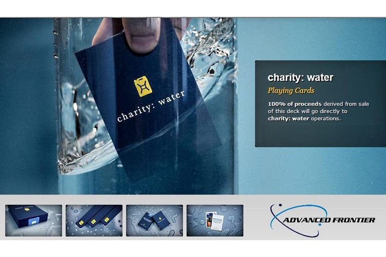 Charity Water Playing Cards Blue Edition by Theory 11