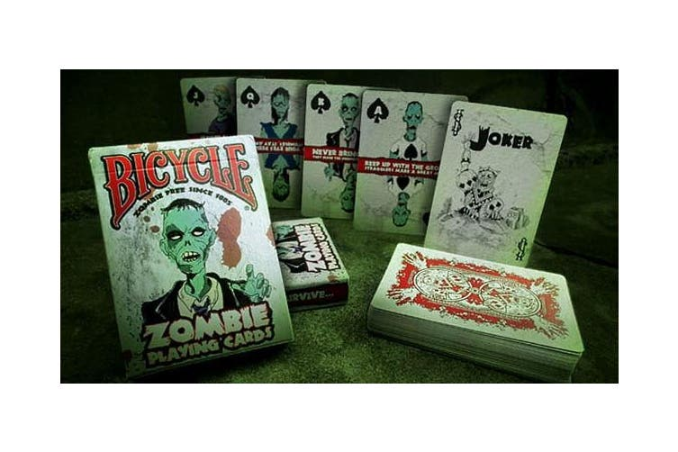 Zombie Playing Cards Deck Grrrg Arrrg +Zombie Survival Tips