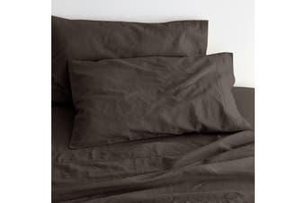 Canningvale - Quilt Cover Set - King - Sogno Linen - Legna Brown