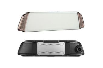 1080P FHD Dual Lens Rearview Mirror DVR - No TF Card and GPS