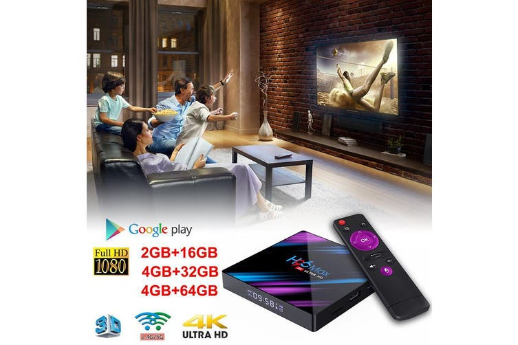 4K 3D Android 9.0 Smart TV Box - 2G16GB UK