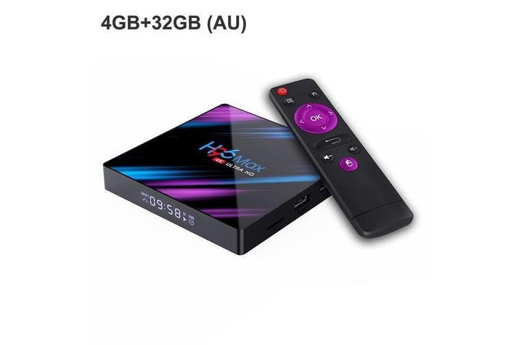 4K 3D Android 9.0 Smart TV Box - 2G32GB AU