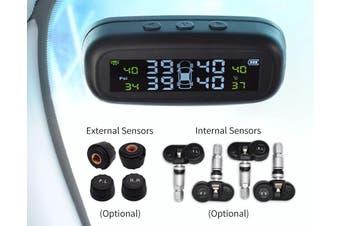Solar Car TPMS External Internal Sensor - External Sensor / M3-With car charger