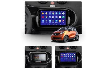 "10.2"" Android 8.1 Mercedes Benz Smart Fortwo 3 C453 A453 W453 2014-2020 GPS Bluetooth Car Player Navigation Radio Stereo DVD Head Unit In Dash Plus OEM Fascia - 2018 / Left Hand Drive"