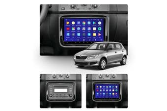 """10.2"""" Android 8.1 Skoda Fabia 2 2007-2015 with CAM GPS Bluetooth Car Player Navigation Radio Stereo DVD Head Unit In Dash Plus OEM Fascia - 2015 / Left Hand Drive"""