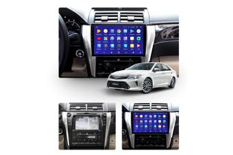 "10.2"" Android 8.1 Toyota Camry 8 50 55 2014-2017 w CAM GPS Bluetooth Car Player Navigation Radio Stereo DVD Head Unit In Dash Plus OEM Fascia - 2015 / Left Hand Drive"