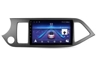 "9"" Android 8.1 KIA Morning 2011-2016 w CAM GPS Bluetooth Car Player Navigation Radio Stereo DVD Head Unit In Dash Plus OEM Fascia - 2011 / Left Hand Drive"