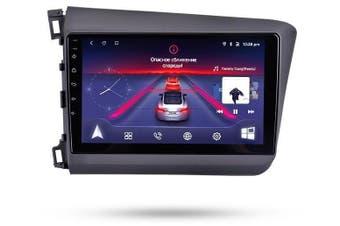 "9"" Android 8.1 Honda Civic 2012-2014 w CAM GPS Bluetooth Car Player Navigation Radio Stereo DVD Head Unit In Dash Plus OEM Fascia - 2014 / Right Hand Drive"