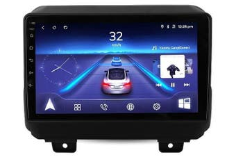 """10.2"""" Android 8.1 Jeep Wrangler 2018+w CAM GPS Bluetooth Car Player Navigation Radio Stereo DVD Head Unit In Dash Plus OEM Fascia - Left Hand Drive"""
