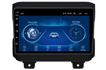 """9"""" Android 8.1 For Jeep Wrangler 2018+ w CAM GPS Bluetooth Car Player Navigation Radio Stereo DVD Head Unit In Dash Plus OEM Fascia - 2018+ / Left Hand Drive"""