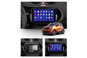 "10.2"" Android 8.1 Mercedes Benz Smart Fortwo 3 C453 A453 W453 2014-2020 w CAM GPS Bluetooth Car Player Navigation Radio Stereo DVD Head Unit In Dash Plus OEM Fascia - 2015 / Left Hand Drive"
