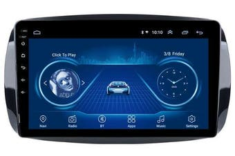 """9"""" Android 8.1 Mercedes-Benz Smart Fortwo C453 A453 W453 2006-2018 w CAM GPS Bluetooth Car Player Navigation Radio Stereo DVD Head Unit In Dash Plus OEM Fascia - C453 / 2007 / Left Hand Drive"""
