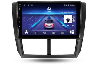 """9"""" Android 8.1 Subaru Forester 2007-2013 w CAM GPS Bluetooth Car Player Navigation Radio Stereo DVD Head Unit In Dash Plus OEM Fascia - 2007 / Left Hand Drive"""
